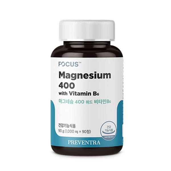 [프리벤트라] 마그네슘400 위드 비타민B6 / 3개월분 1 000mg x 90정 눈밑떨림 고함량 마그네슘영양제, 1개