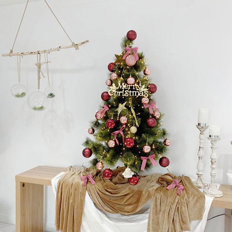 비솜 로맨틱 크리스마스 고급파인트리120cm세트, 블랙선