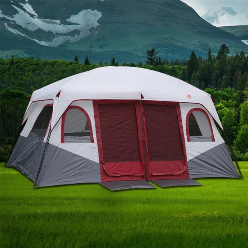 장박텐트 타프쉘 리빙쉘 투룸텐트 대형 차박용 차박 장박, 방이 2 개인 레드 럭셔리 텐트
