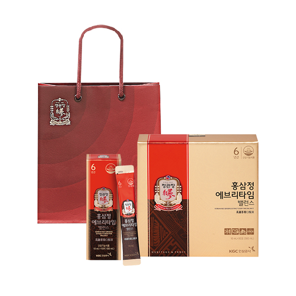 정관장 홍삼정 에브리타임 밸런스 + 쇼핑백, 10ml, 30포