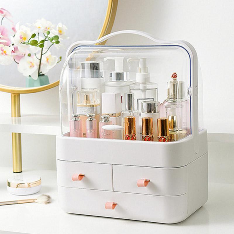 엘코코 하이클래스 뚜껑있는 화장품정리보관함 특대형+사은품, 1개