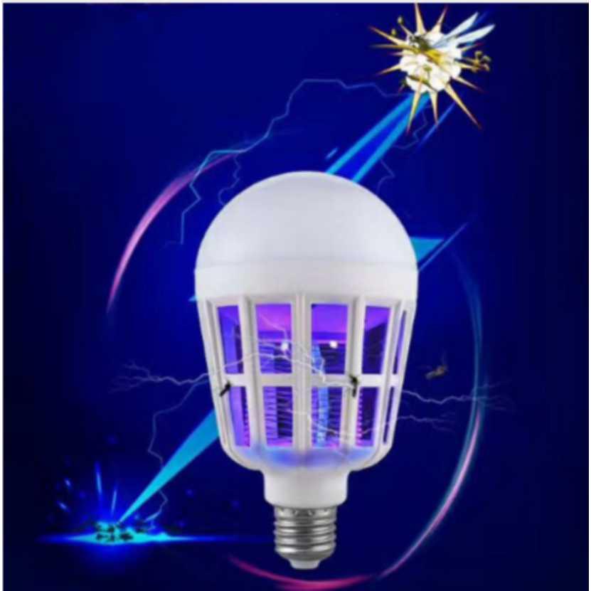 모기 킬러 램프 2 1 e27 led 전구 전기 트랩 모기 킬러 빛 220 v 15 w 안티 곤충 아기 led 밤 램프, 1개, E27 220V 15W A^+1990