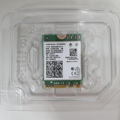 인텔 AX200NGW 802.11ax 와이파이6 노트북 무선랜카드