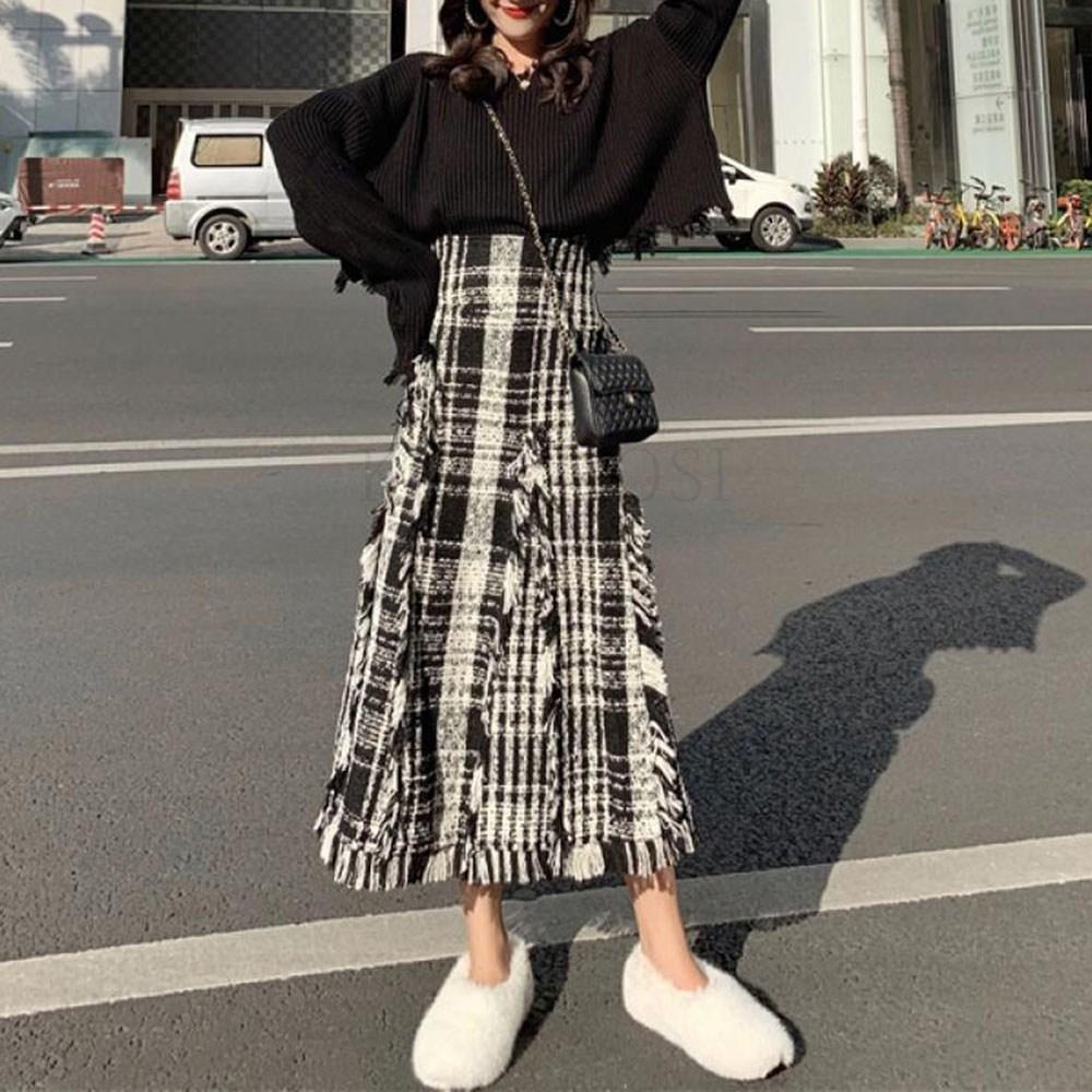 kirahosi 빅사이즈 여성 투피스 세트 니트 긴소매 상하복 Q 3 BFihx81a+덧신 증정