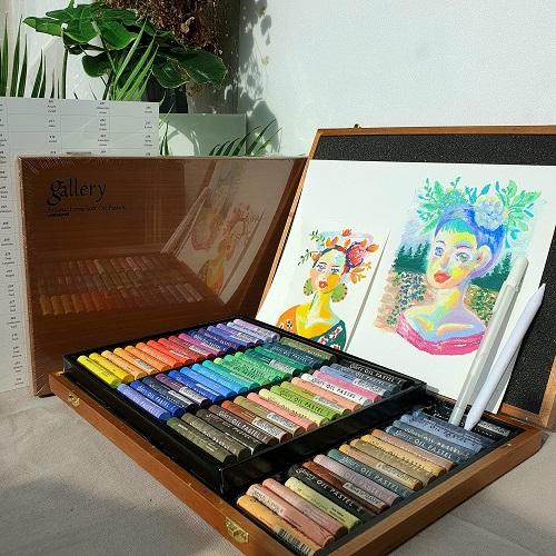 문교 소프트 오일파스텔 72색 목상자 48색 전문가용 종이 찰필, 48색지함, 추가없음