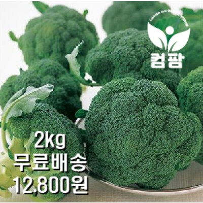 <컴팜>브로콜리/2kg/4kg/8kg, 2kg(4~8수)