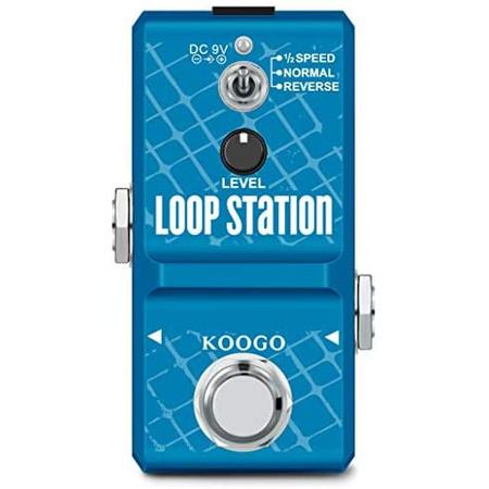 Koogo Looper 기타 페달 루프 스테이션 반복 10 분 이내에 무제한 오버 더빙 12 시간 및 리버스 메모리, One Color_Loop Station, One Color, 상세 설명 참조0