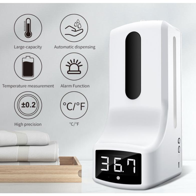 K9 손소독기 온도 자동 측정기 센서형 손 세정기 측온계 일체기