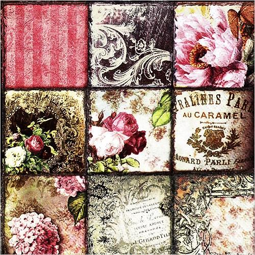 파스텔크래프트 ti-flair 냅킨아트 373432 Vintage Collage Paris 냅킨20매 33x33cm 2116, 20매입, 혼합색상