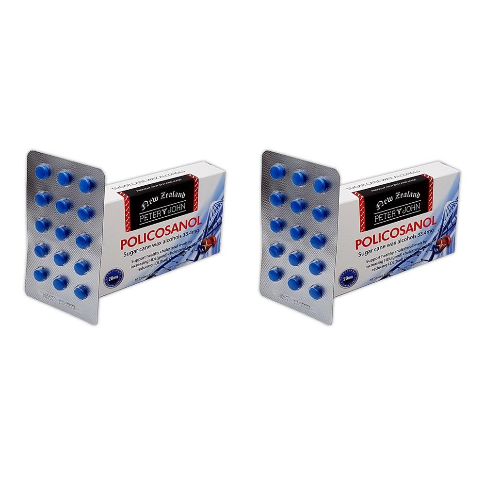 피터앤존 Peter and John 폴리코사놀 33.4mg 60캡슐 2팩 콜레스테롤 옥타코사놀
