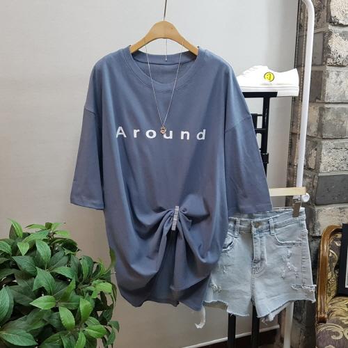 [여성패션] 상상그이상 여성용 사계절 라운드 레터링 반팔 루즈핏 티셔츠 - 랭킹60위 (15000원)