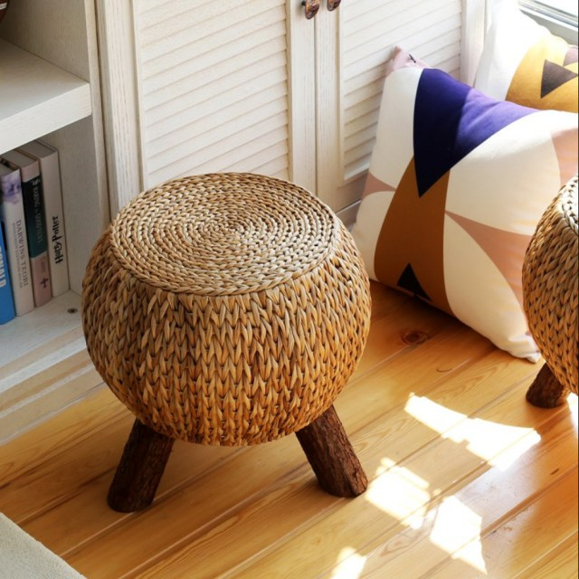 라탄스툴 등나무의자 왕골 의자 인테리어의자