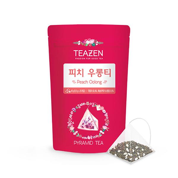 티젠 피치 우롱티 삼각 25티백, 단일상품