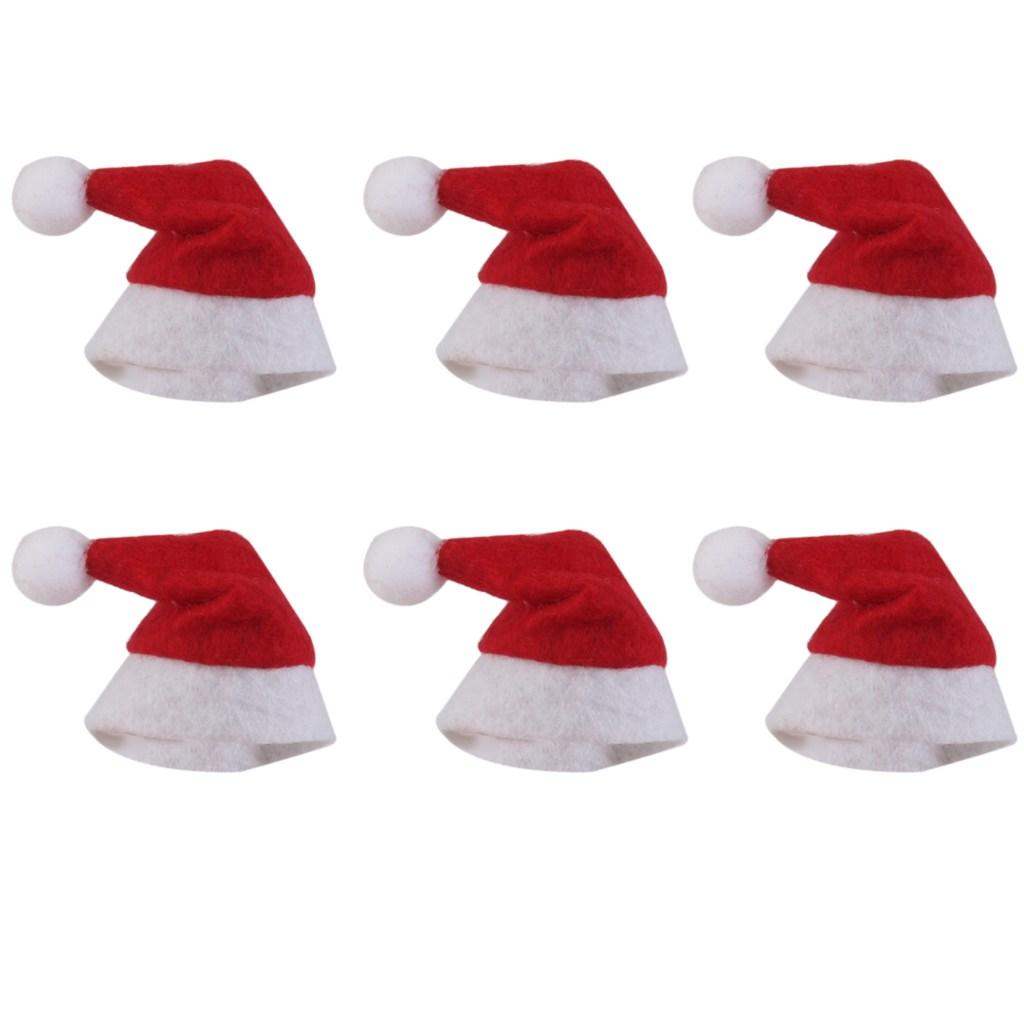 STK미니 산타 클로스 모자 롤리팝을위한 크리스마스 휴일 장식