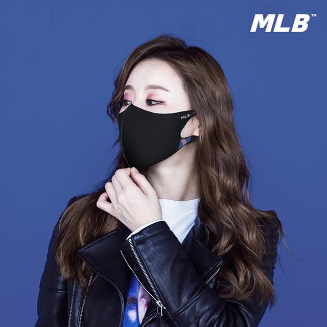 MLB 패션마스크 자외선차단/공항/연예인/블랙