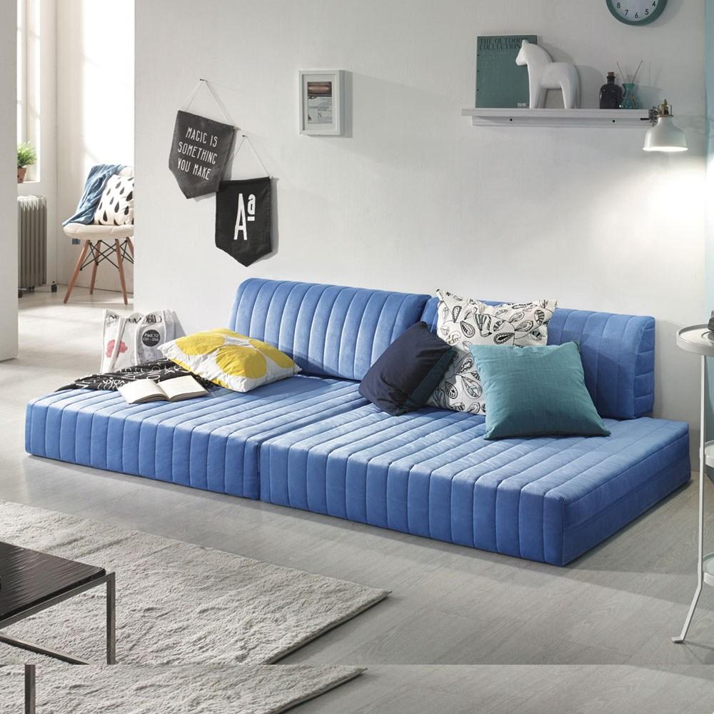 하포스 국내산 접이식 매트리스 자유자재 공간활용, 블루 파워본넬