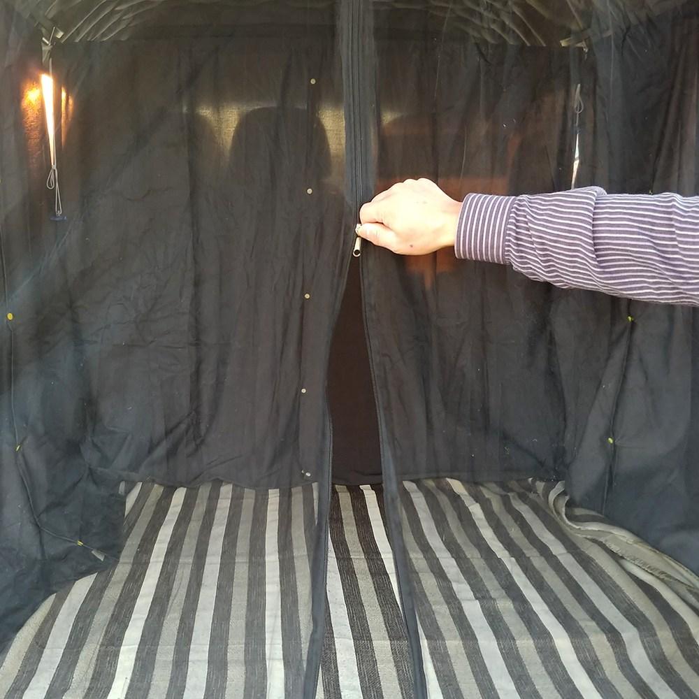 마이보스 차박 모기장 차량용 트렁크 방충망, 중형블랙