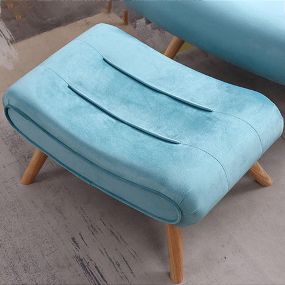 발받힘 디자이너 의자 북유럽 소파 1인용 달팽이 의자 침대 발코니 베란다 임스라운지체어 이몰라체어 이케아스트란드몬 로제까사안락의자 이케아펠로, 싱글발 디딤(색상연락 고객복)