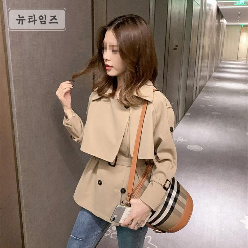 Bybonu/ 여성 봄 원피스코트 패션 트렌치코트 F XZ42 A21