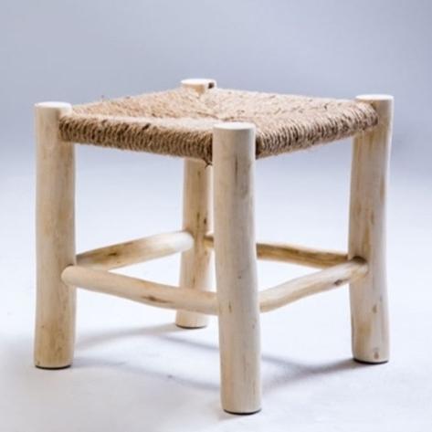 픽베스트 빈티지 라탄 스툴의자 아기 인테리어 카페 장식용 의자, 2