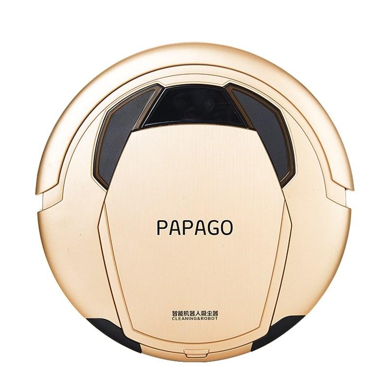 물걸레 로봇 청소기 추천 PapaGo 청소 M980 가정용 초박형 자동 스마트 진공 및, 타이런트 골드 (POP 5650649287)