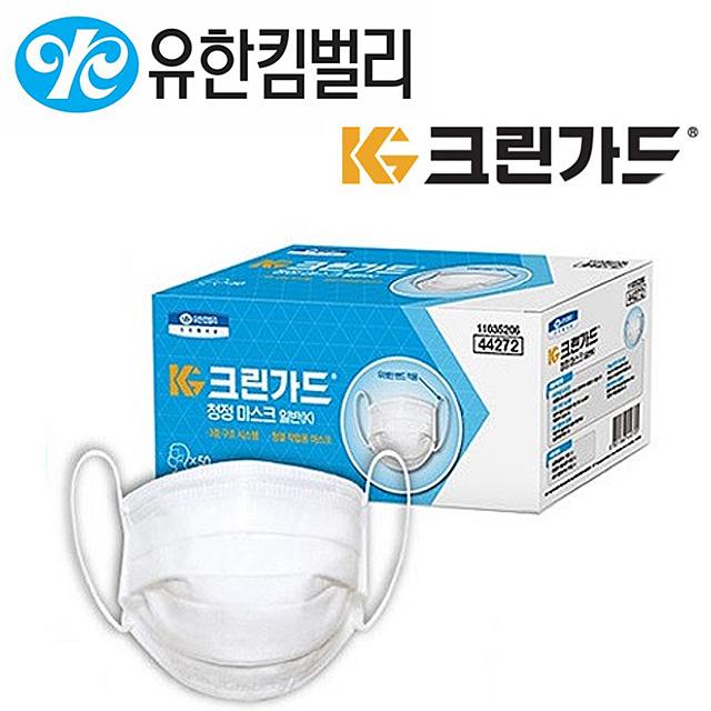 유한킴벌리 크린가드 국산 44272 일회용 마스크 50매, 1개, 50매입
