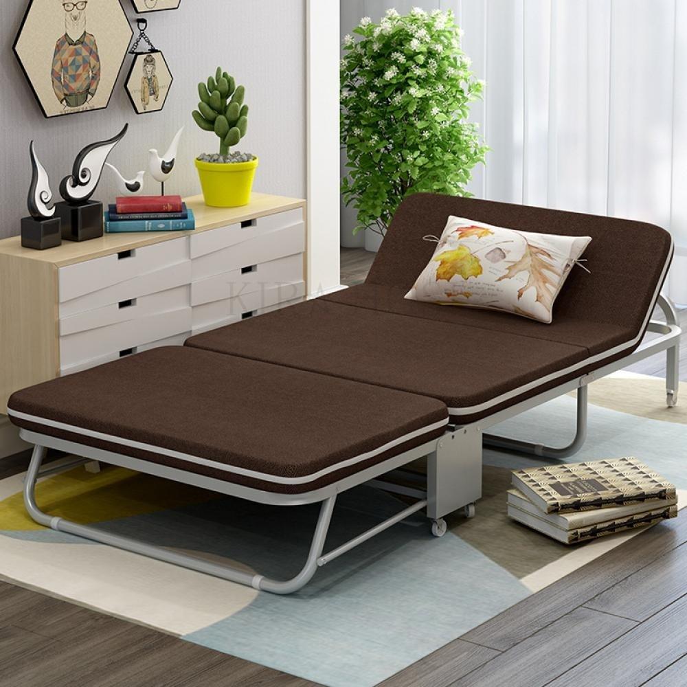 1인 사무실 접이식 침대 고시원 417GS 9+덧신 증정 BLv3eqhs kirahosi 캠핑 의자 소파 원룸 베드 417 GS, 75cm블루a