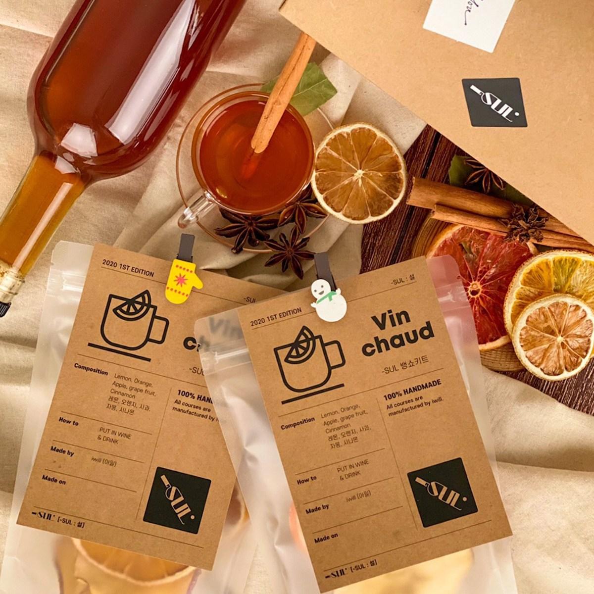 [-SUL : 설] 뱅쇼/상그리아 대용량 키트, Edition 1(와인 1~2병분량), 선물포장X, NO