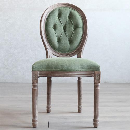 북유럽 복고풍 클래식 빈티지 나무 식탁 의자 동물 그림 등받이 엔틱 체어, AQ