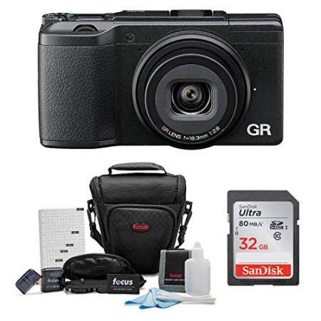 Ricoh GR II Digital Camera (Black) w 32GB SD Card and Case Bundle PROD330003968, 상세 설명 참조0