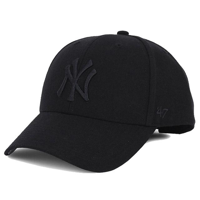 47브랜드 뉴욕 양키즈 볼캡 모자-올블랙