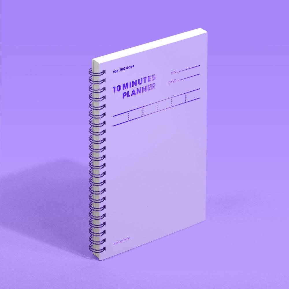 모트모트 텐미닛 플래너 100days - 바이올렛