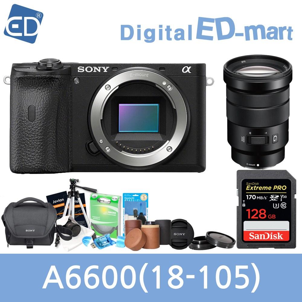 소니 A6600 16-50mm 128패키지 미러리스카메라, 05 소니A6600블랙 + 18-105mm렌즈 +128GB + 소니가방 풀패키지