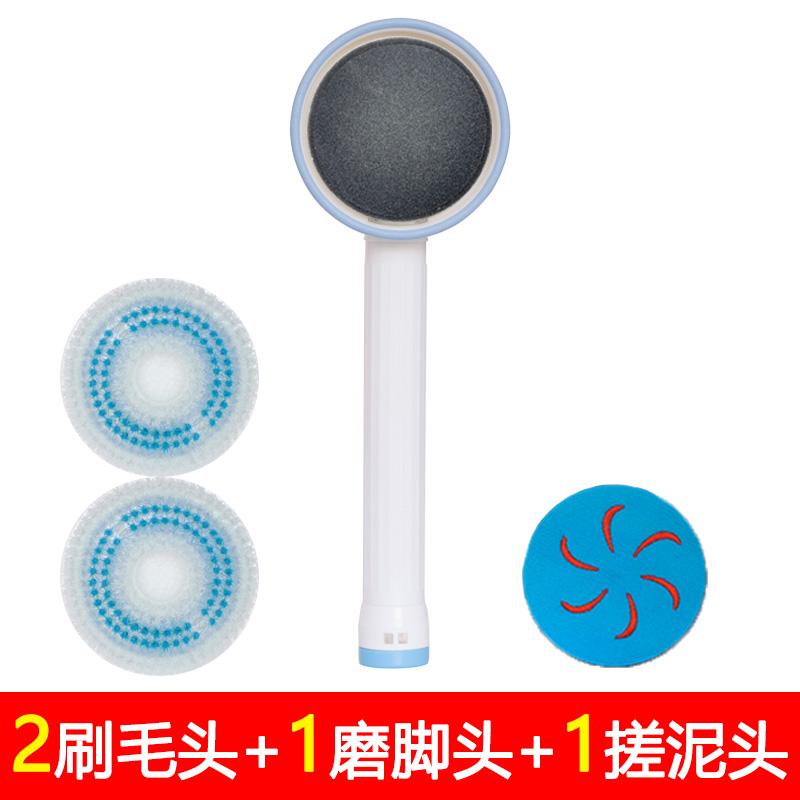 자동 등 때밀이 기계 때돌이 충전식 브러쉬 M1, 하나의 머리 문지르 기 두 개의 칫솔질 머리 (POP 5543278806)
