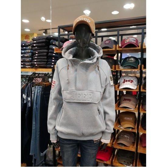 W몰 지프 공용 원컬 지퍼포켓 아노락 후드 티셔츠 JJ1THU011