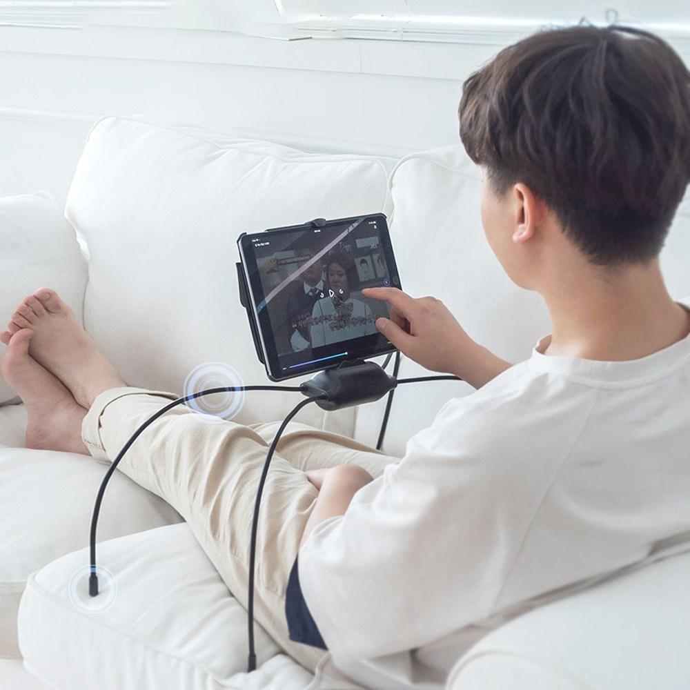 달리 누워서 앉아서 어디서든 사용가능한 거미 태블릿 핸드폰 거치대, 1개, 거미 침대 태블릿 거치대