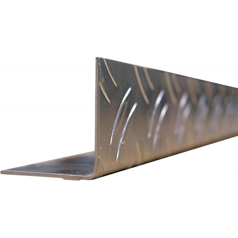 GAH-Alberts 468873 앵글 프로파일 - 알루미늄 골판지 표면 블랭크 1000 x 41.2 x 41.2 mm