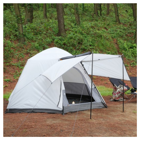 아이두젠 트라이베카 2DOOR 원터치 오토 텐트 윙플라이 패키지, 라이트그레이