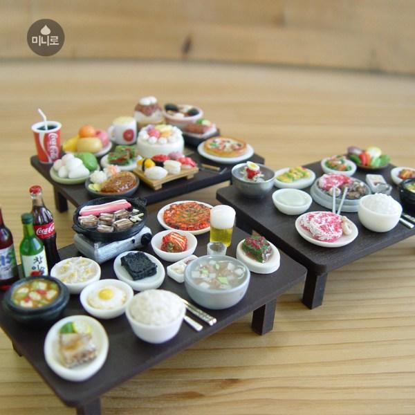 미니로 - [ 상과 음식을 골라서 꾸미는 수제작 미니어쳐 차림상 ] 납골당 꾸미기 200가지 음식선택가능