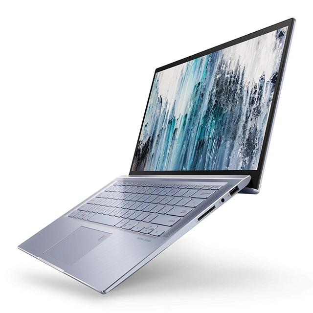 ASUS UX431FA-ES74 ZenBook 14 Ultra Thin & Light Laptop 4-Way NanoEdge Full HD i7-8565U 8GB RAM 512GB SSD, silver blue, UX431FA-ES74 ASUS ZenBook 14