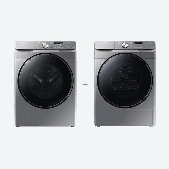 삼성 [삼성가전결합] 그랑데 세탁기 21Kg + 건조기 14Kg 이녹스실버 (WF21T6000KP+DV14T8520BP), 삼성가전결합