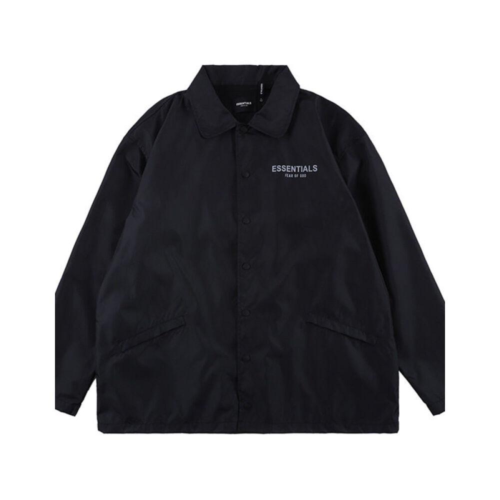 NAGRI 유럽 패션 브랜드 2020 가을 겨울 FOG 리 플 렉 스 나일론 남성 트 레이 너 재킷 바람막이 검은색 S