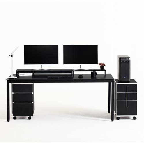 다가구 프래그마 1800 x 800 컴퓨터책상, 블랙+블랙(상판):블랙(프레임)