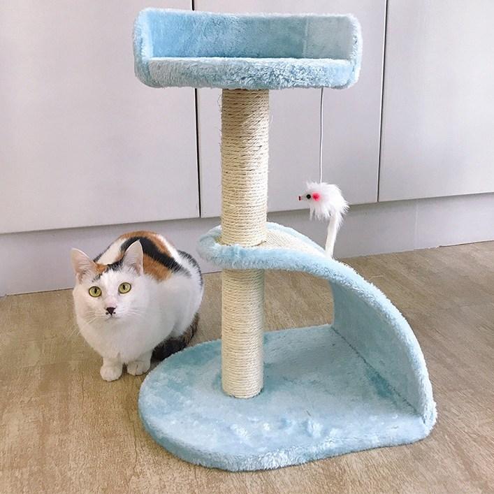 미래물 고양이 윷놀이 소형 뜀틀 용품 검마발 기둥 잡기 장난감ZZW, 1개, 블루A1