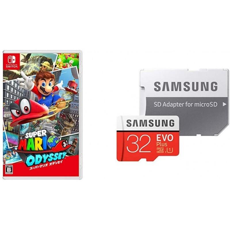 슈퍼 마리오 오디세이 - Switch + Samsung microSD 카드 32GB 세트, 단일상품
