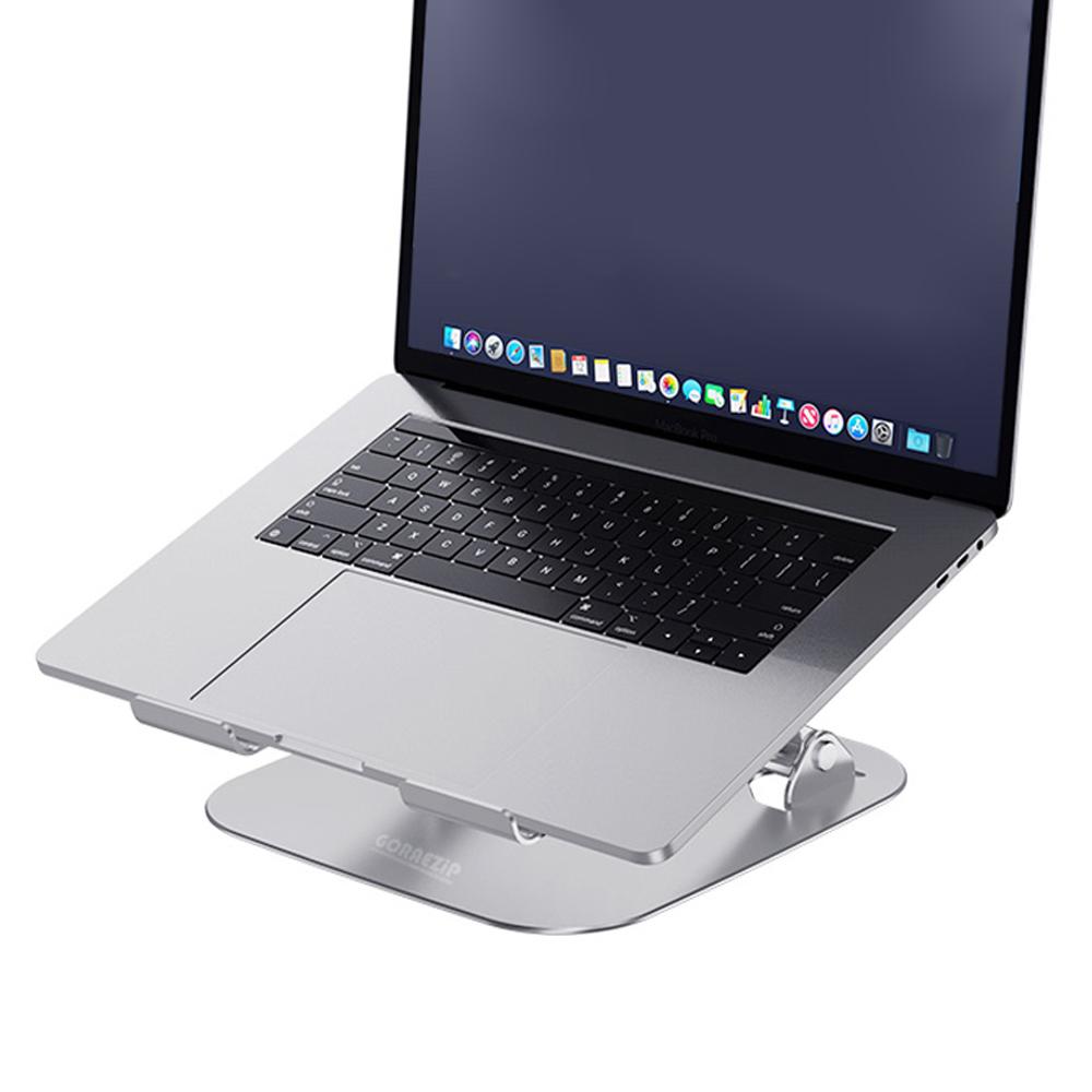 GORAEZIP 노트북 각도자유조절 거치대, GO-NS2 실버