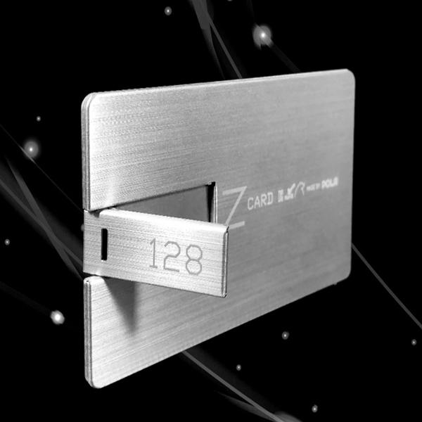 (주)케이디물산 폴라Z-CARD 카드형 USB메모리 실버 32GB 64GB 128GB