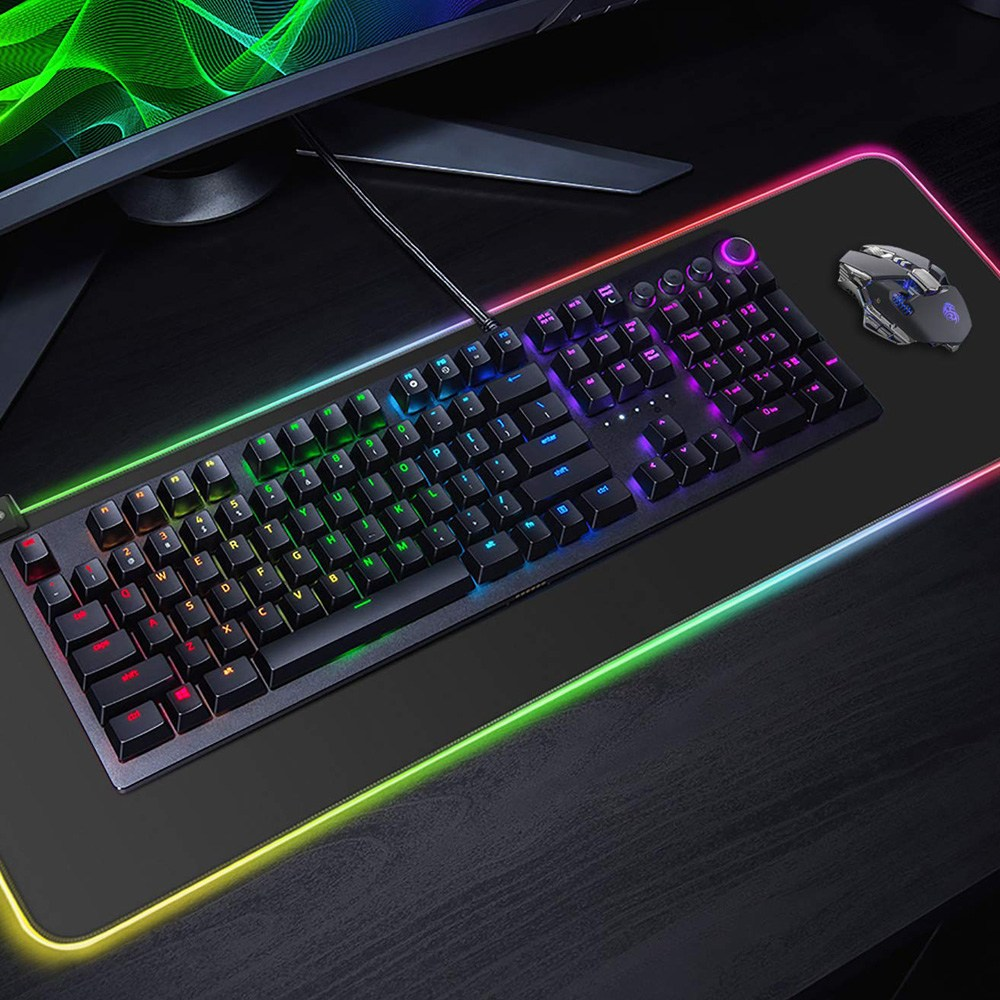 OMT RGB LED 장패드 게이밍 마우스패드 OMP-LED 300X780mm 대형