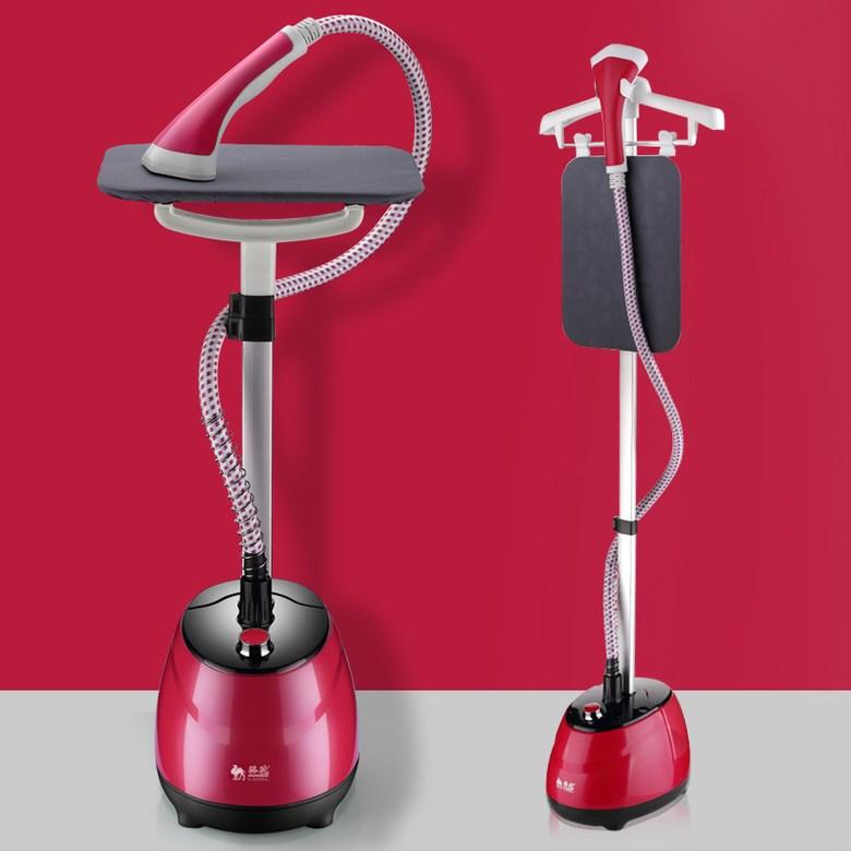 스탠드형 가정용 전기 스팀다리미 의류 셔츠 점퍼, 레드+다리미판