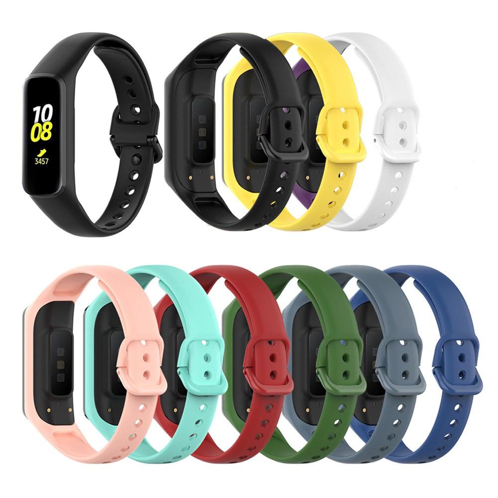 아카빌라 갤럭시 핏e 실리콘 스트랩 심플 방수 TPU 밴드 시계줄, 애쉬 블루, 갤럭시 핏E(R3750)